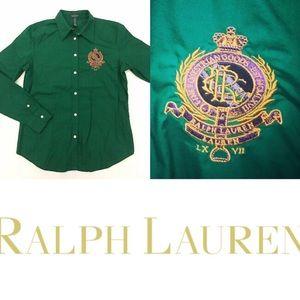 Ralph Lauren Equestrian LRL Goods Crest Shirt L